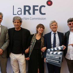 Photocall - Jorge Portu Reinares, Iñaki Guevara, Andrea Álvarez Alonso, Eduardo Rodríguez Osés y Nacho Guerreros