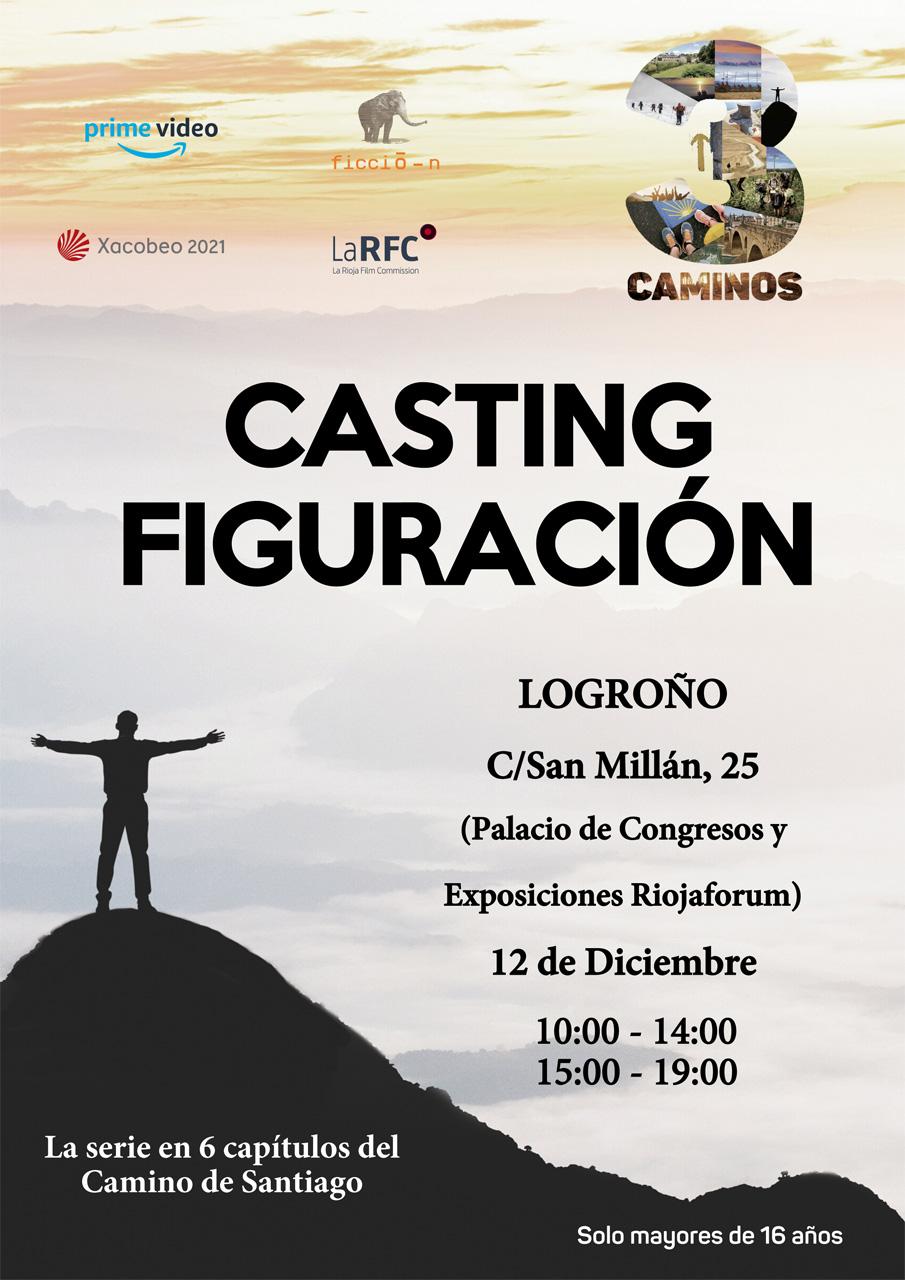 Casting de figuración en Logroño el próximo 12 de diciembre para la serie 3 CAMINOS