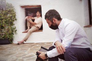 El director riojano Juanma Carrillo dirige a Antonio Banderas en la nueva Campaña de Turismo de Andalucía